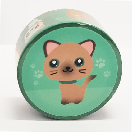 Washi Tape 2 mm gatitos Lazycat