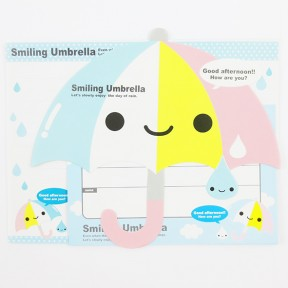 Smiling umbrella letter set