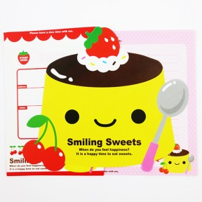 Smiling sweet letter set