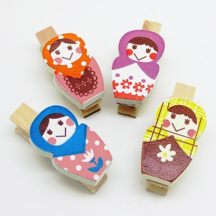 Russian doll clip set