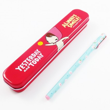 Always smile pencil case