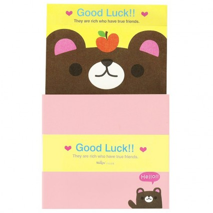 Conjunto carta Good luck