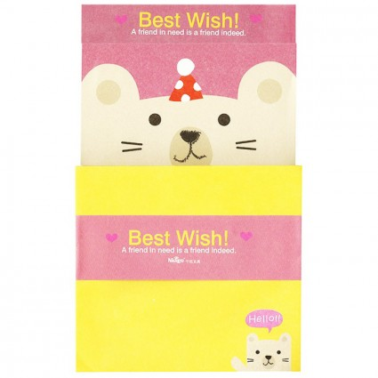 Conjunto carta Best wish