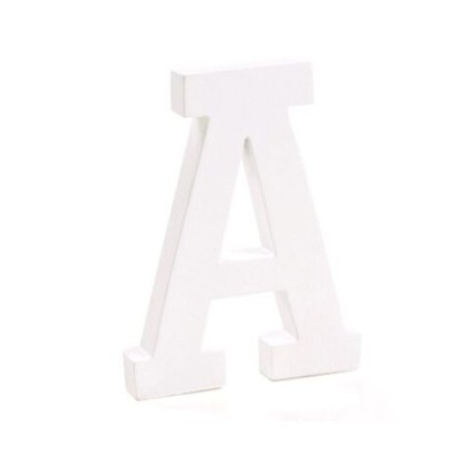 "Wooden letter ""A"""