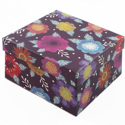Purple floral box