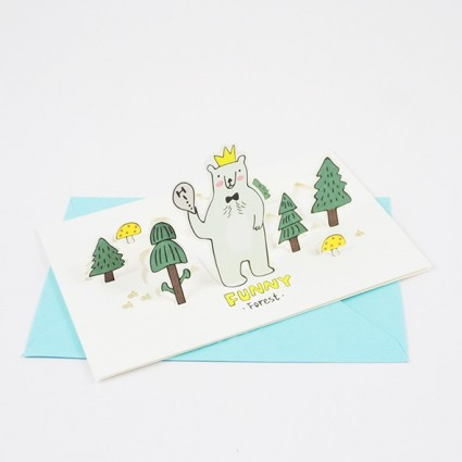 Funny forest card