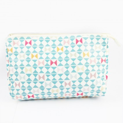 Geometric toiletry bag