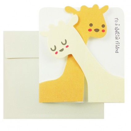 Animal couple card mod.3