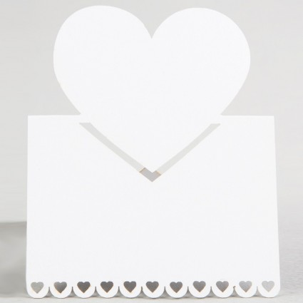 Heart place card set