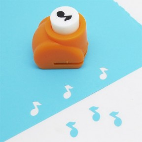 Musical note craft punch