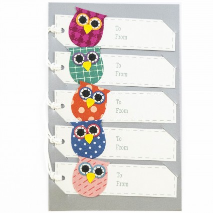 Owl gift tag assorted