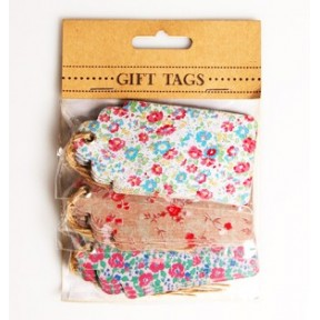 Set of flower tags