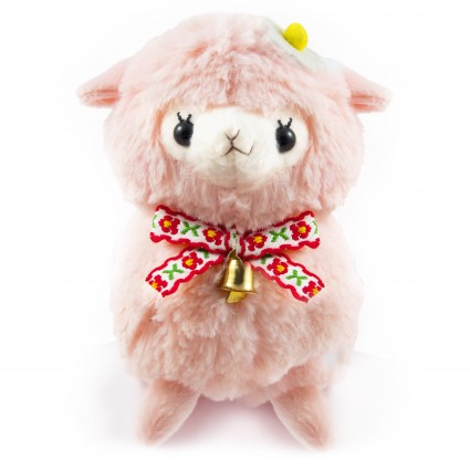 Pink alpaca plush toy