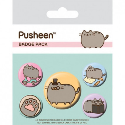 Set chapas Pusheen