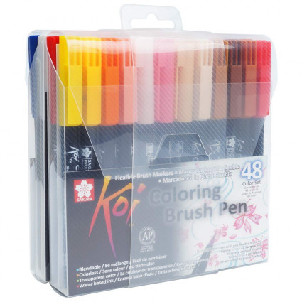 koi coloring brush pen 24 - -Lazycat