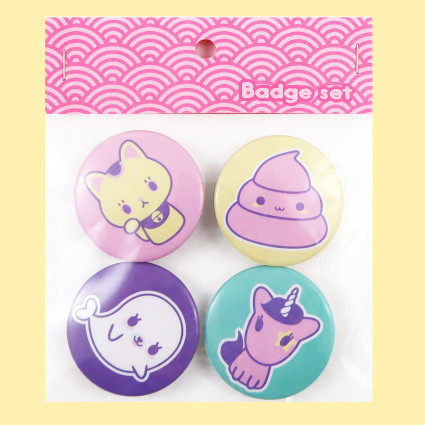 Set de chapas Kawaii friends