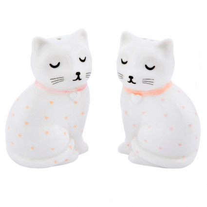 Cat salt and pepper shaker set