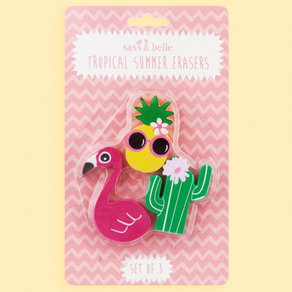 Tropical eraser set
