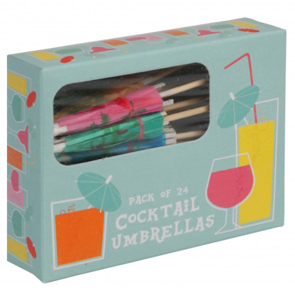 Set of 24 cocktail parasols