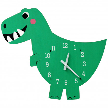 Dinosaur wooden wall clock