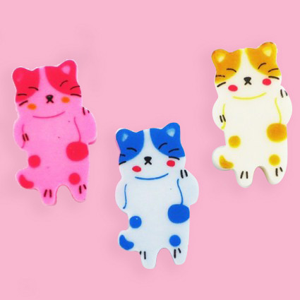 Cat eraser set