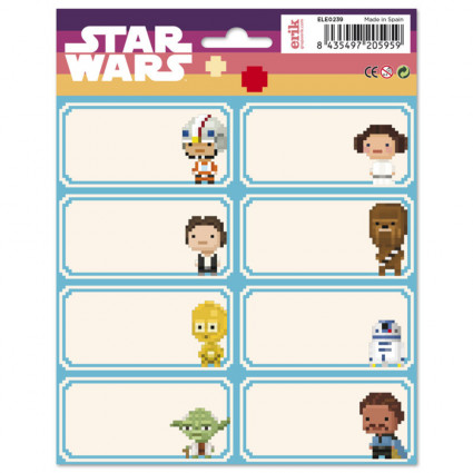 Star Wars School labels