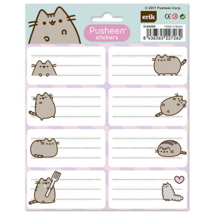 Pusheen School labels