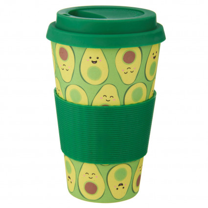 Rainbow bamboo coffee cup
