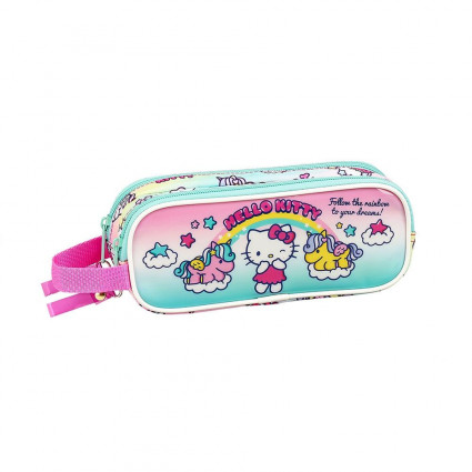 Estuche doble Hello Kitty unicornio