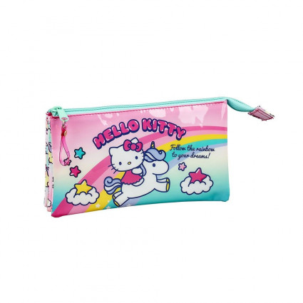 Estuche triple Hello Kitty